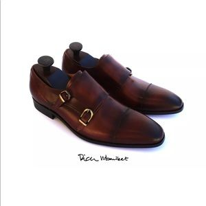 Rich Mbariket Double Monk Genuine Leather Oxfords